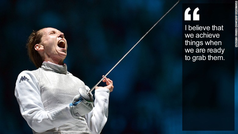 Fencing Quotes Gorgeous Valentina Vezzali Fencing's Political Jouster  Cnn