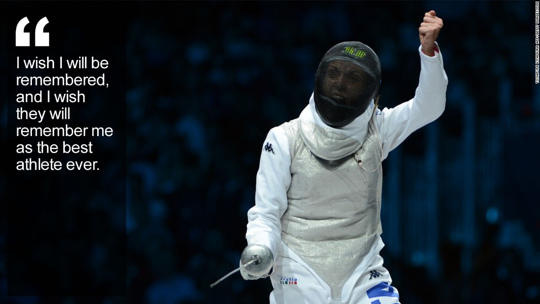 Fencing Quotes Fair Valentina Vezzali Fencing's Political Jouster  Cnn