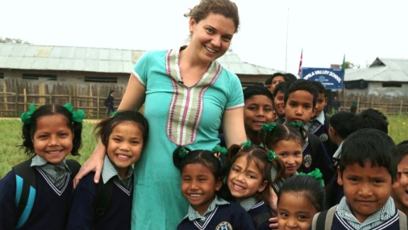 Doyne worked with a community in Nepal to build the Kopila Valley Children