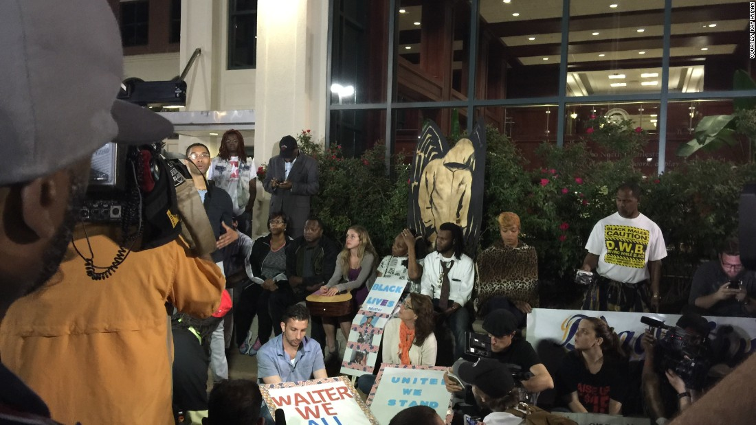 Protesters from the Black Lives Matter movement contacted Hyman and asked if they could borrow the art.