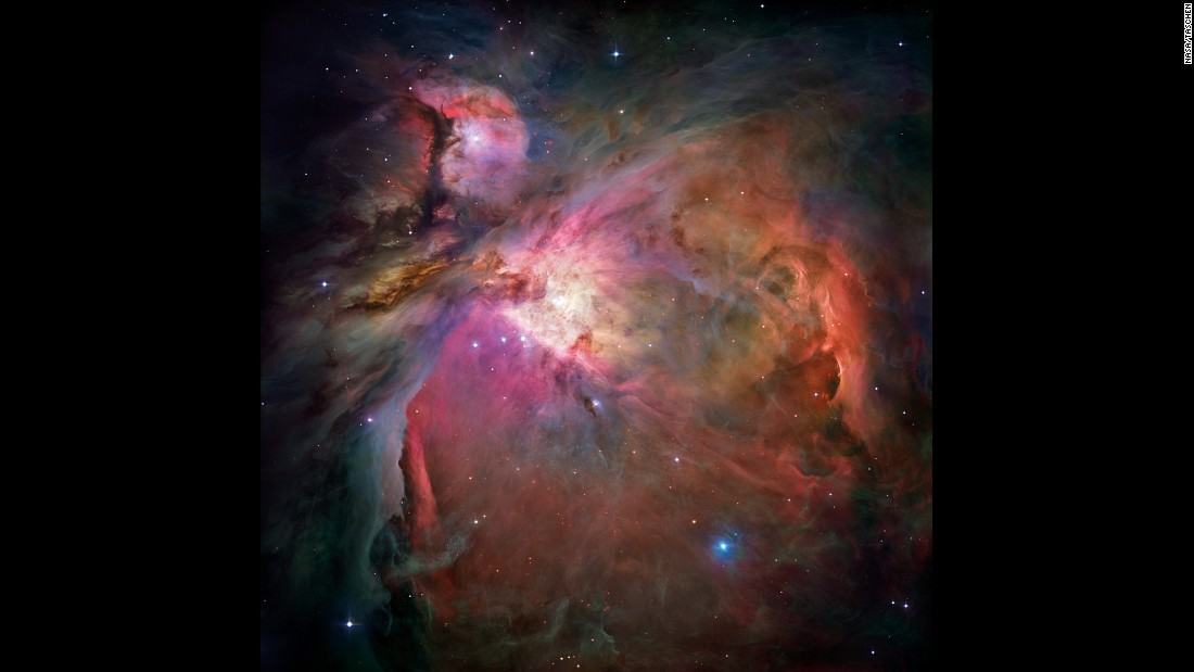 The Orion Nebula is 1,500 light years from Earth located in Orion's Belt in the constellation Orion. It's one of the brightest nebulae and on a clear, dark night -- it's visible to the naked eye. The nebula is Earth's nearest star-forming region.