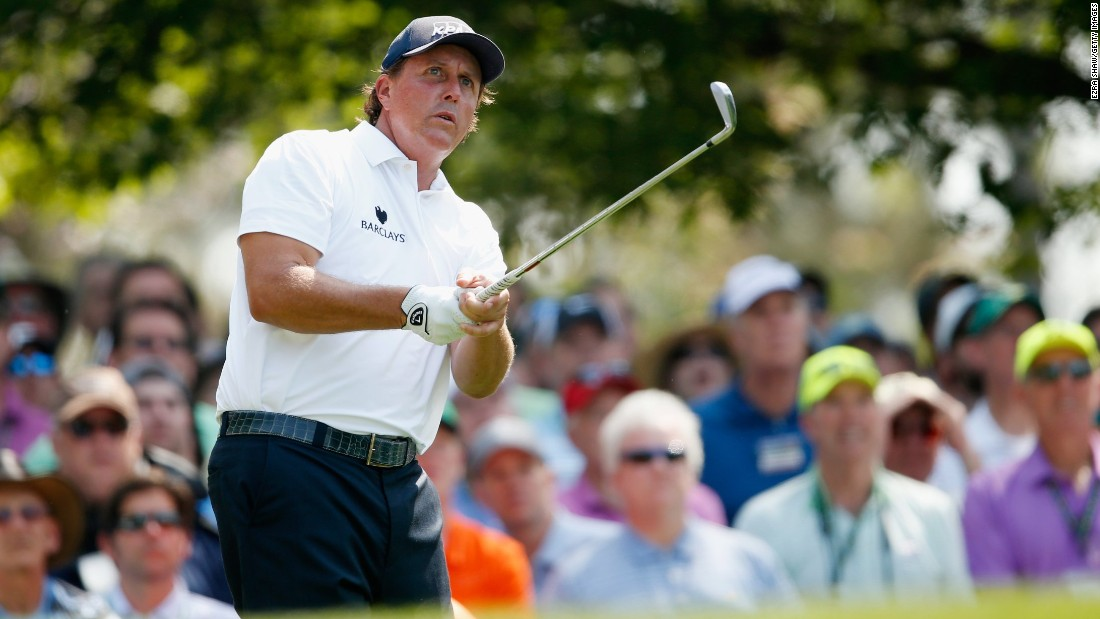 Veteran Phil Mickelson, aiming to join Woods in winning four Green Jackets at Augusta, bounced back from successive bogeys with an eagle-three at the par-five eighth hole. He finished two-under 70 to be tied for 12th.
