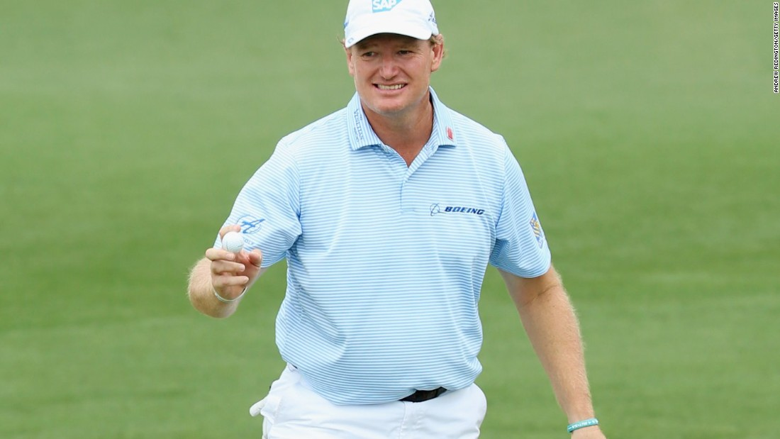 Four-time major champion Els, twice a runner-up at Augusta, contended for the outright lead as he surged to six-under after 17 holes. However, the 45-year-old South African bogeyed the last to drop level with Rose and Hoffman.