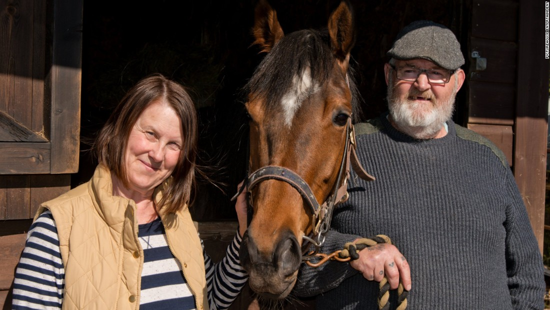 "Jan Vokes (left) says her adventure with Dream Alliance ""kept me sane."" She has now bred another horse to continue the dream begun by the Welsh alliance of villagers."
