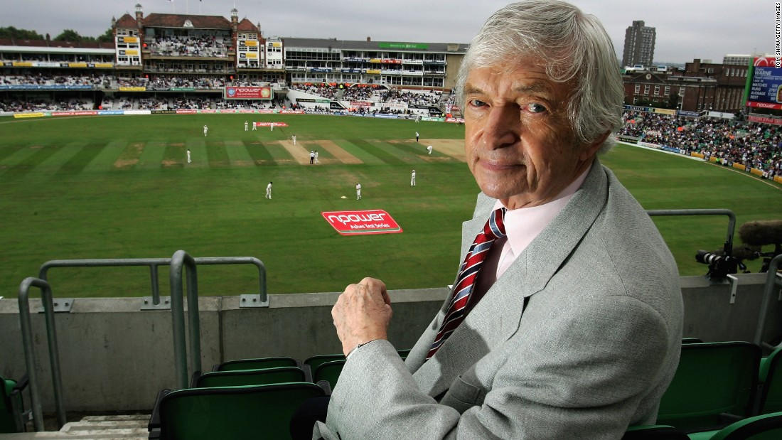 Richie Benaud looks on during day four cricket match between England and Australia on September 1, 2005 in London, England.