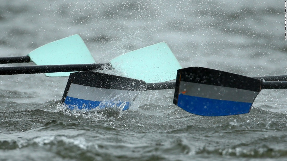 In all, each team will complete around 600 strokes during the contest cutting through the often choppy waters of the Thames.