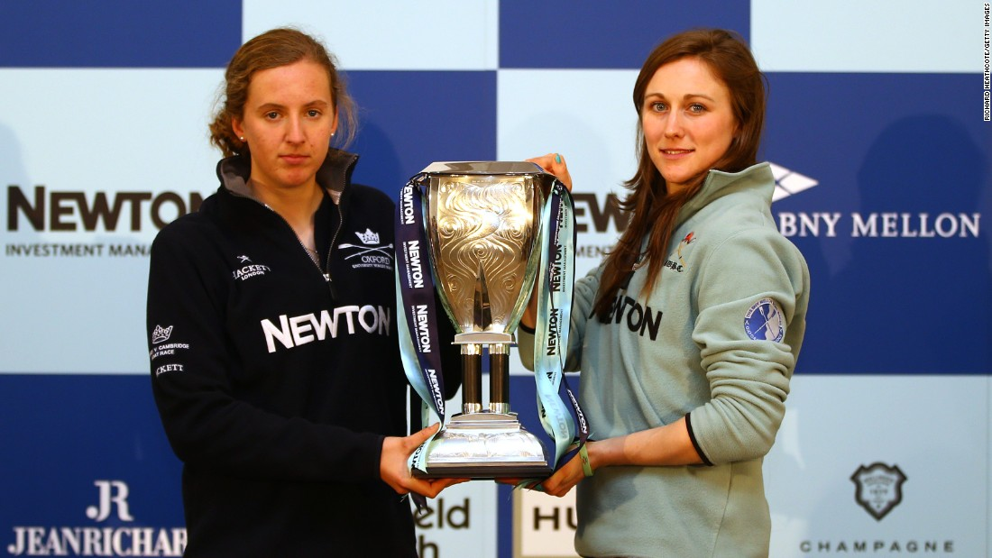 Oxford president Anastasia Chitty (left) and Cambridge president Caroline Reid will lead two crews of eight on Saturday April 11.