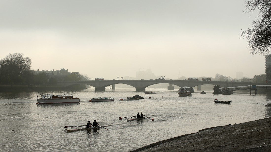 The men's University Boat Race has been contested on London's Thames since 1845. The annual race between the UK's two premier universities takes place between Putney Bridge (pictured) and Mortlake in south-west London.