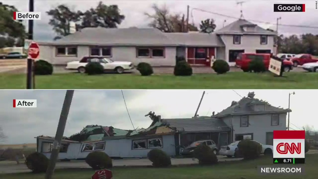 Before and after tornado damage - CNN Video