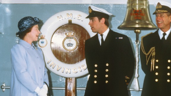 """Prince Andrew, the Duke of York, has been dubbed """"AirMiles Andy"""" by the British tabloids because of his luxurious, jet-setting lifestyle. During the Falklands Conflict in the early 1980s, he served as a helicopter pilot in the Royal Navy."""