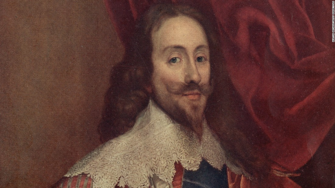 King Charles I became heir to the throne of England on the death of his brother Henry; an unpopular King, he was defeated in the Civil War, and executed for high treason in 1649.