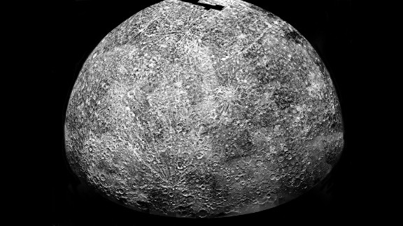Mercury is the closest planet to the sun and very hot, but its polar regions may have water ice and other frozen volatile materials, according to NASA studies.