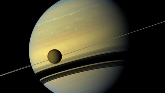 NASA's Cassini mission has evidence of an ocean inside Saturn's largest moon, Titan, which might be as salty as the Earth's Dead Sea.