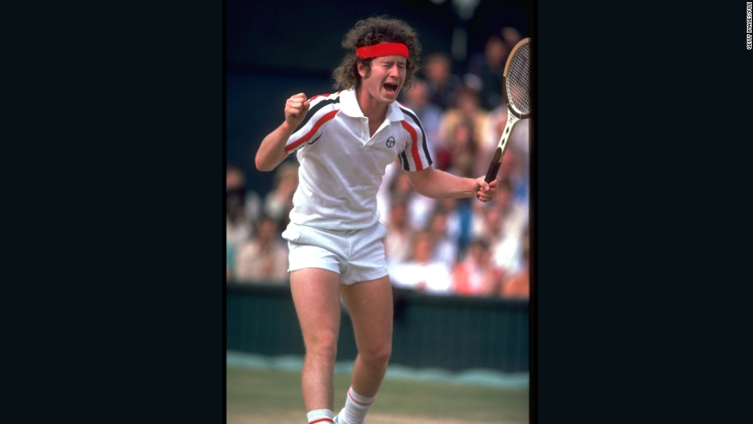 "Perhaps you'd be upset too, if you had hair like this. John McEnroe lets rip during a tournament in 1980.<br />""I think a lot of people identified with McEnroe,"" says Rothenberg. ""It was right when punk music was around, and people saw him as anti-establishment in a way they found really appealing and relatable -- even though it was a love-hate relationship at times."""