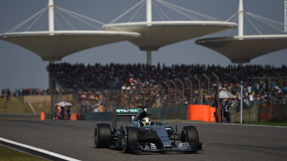 Hamilton extended his lead to 13 points over Vettel ahead of the next race in Bahrain, having won at Shanghai for the fourth time in his career.