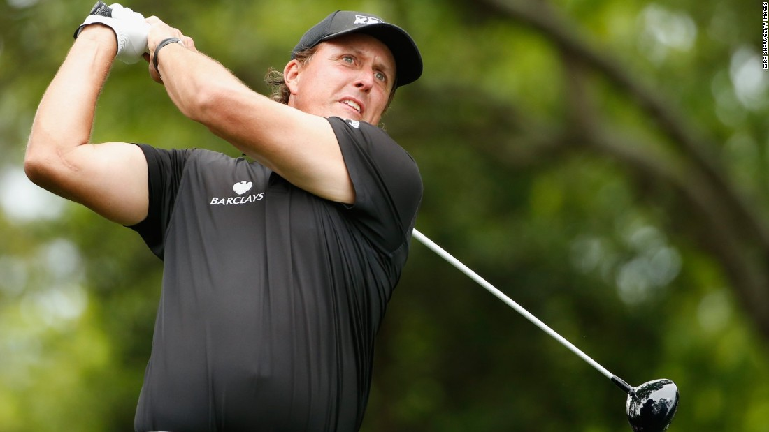 Phil Mickelson, of the United States, made $50.8m. He's pictured in action during the 2015 Masters at Augusta.