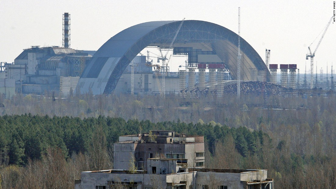 "A new ""safe containment"" barrier is being built over the Chernobyl power plant to reinforce a sarcophagus structure originally constructed to limit the escape of radiation."