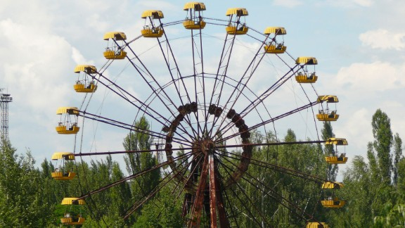 Pripyat's amusement park is its most photographed area. Barely used, its rusty funfair wheel has become a symbol of a once lively city silenced by disaster.
