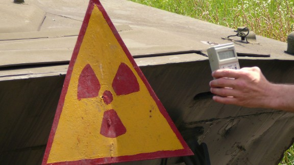 Background radiation around the Exclusion Zone can be up to 10 times the normal level. Slow-growing vegetation, especially prone to absorbing radioactive particles, tests even higher.