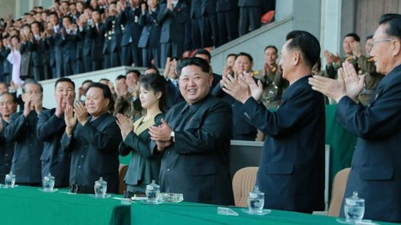 """KCNA provided a list of officials who watched the match. They included Choe Ryong Hae, Choe Thae Bok, Kim Yang Gon, Kwak Pom Gi, Kim Phyong Hae and members of the State Physical Culture and Sports Guidance Commission. Youth, students and """"working citizens"""" also watched from the stands."""