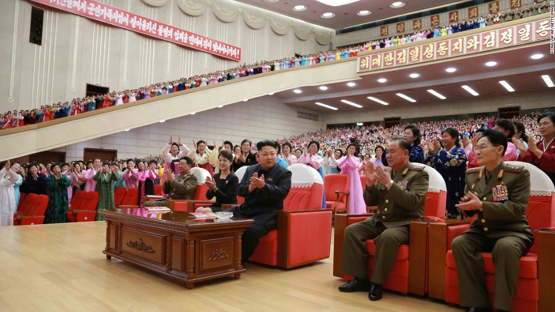 A week earlier, North Korea's most powerful couple attended a performance in Pyongyang's Cultural Hall, by families of members of the Korean People's Army (KPA) units.