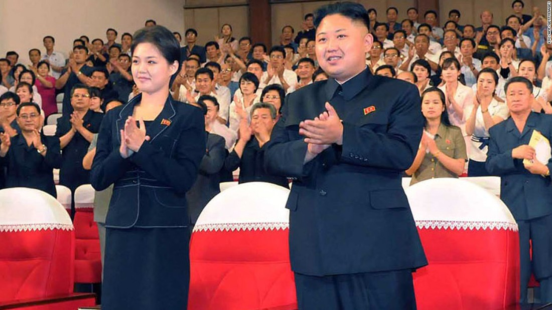 An early photo of Ri, released by North Korean state media in July 2012, shows her alongside Kim, enjoying a demonstration performance given by the newly organized Moranbong band in the capital Pyongyang.