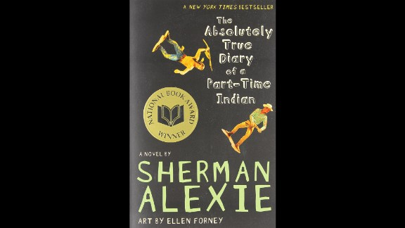 """Topping the American Library Association's 2014 list of most-challenged books, """"The Absolutely True Diary of a Part-Time Indian"""" by Sherman Alexie tells the story of a young Native American attending a predominantly white high school. It's among the 80% of 2014's most-challenged books that the association says feature diverse characters. The book has appeared on the list each of the past four years."""