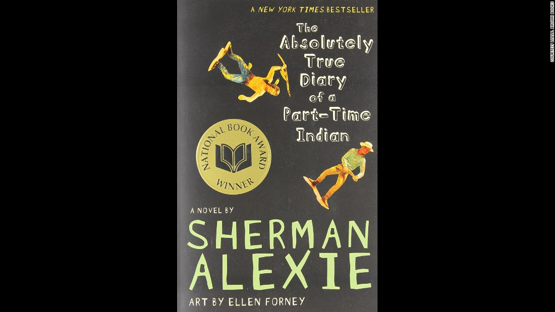 "Topping the American Library Association's 2014 list of most-challenged books, ""The Absolutely True Diary of a Part-Time Indian"" by Sherman Alexie tells the story of a young Native American attending a predominantly white high school. It's among the 80% of 2014's most-challenged books that the association says feature diverse characters. The book has appeared on the list each of the past four years."