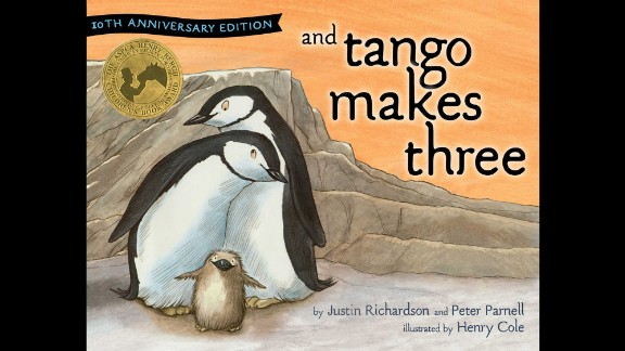 """""""And Tango Makes Three"""" returns to the list at No. 3 after a year away (it was the fifth-most challenged book in 2012). It's about two gay penguins raising a baby."""