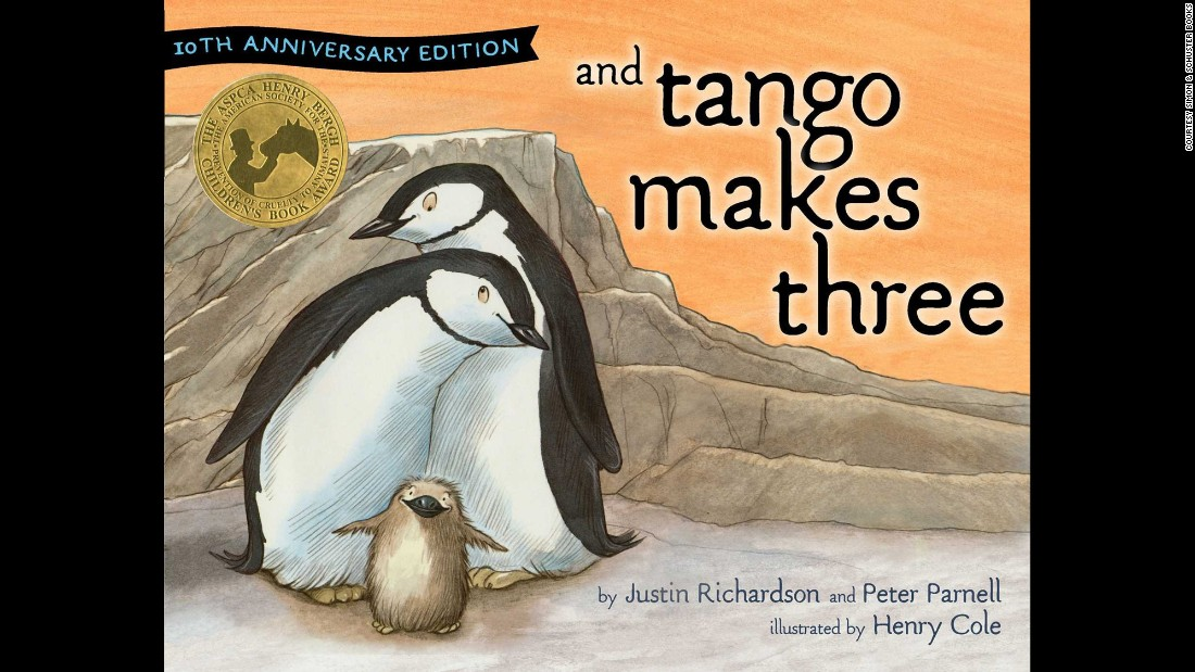 """And Tango Makes Three"" returns to the list at No. 3 after a year away (it was the fifth-most challenged book in 2012). It's about two gay penguins raising a baby."