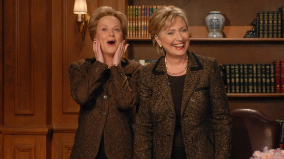 "Actress Amy Poehler also played Clinton in several ""SNL"" skits."