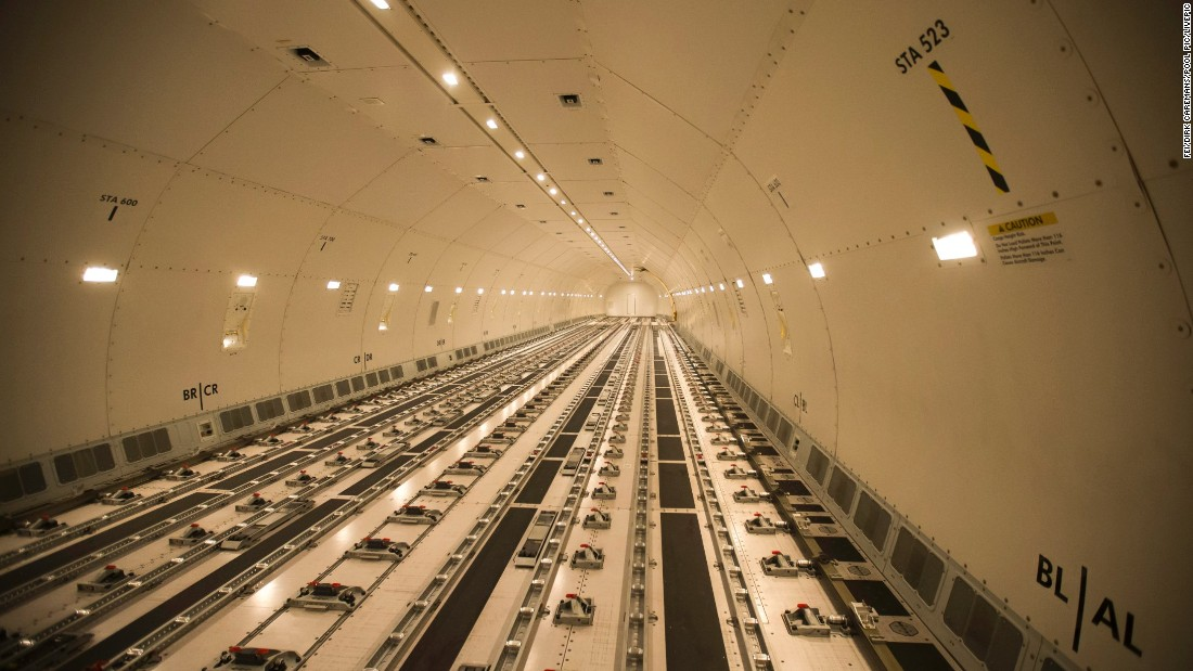 This is how it looks inside the Qatar Airways Boeing 777 that takes the horses to Vegas. They spend just over 11 hours in the air. All horses carry passports and each stall is security-checked before being loaded.