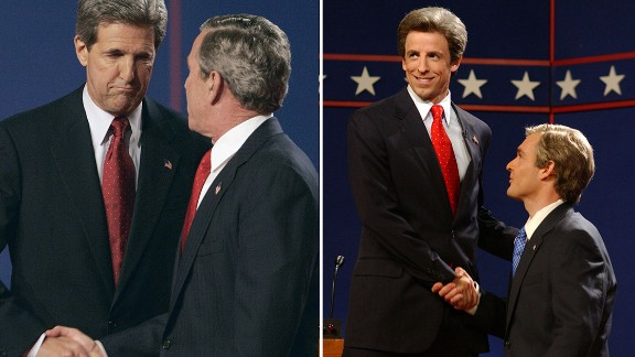 """Saturday Night Live"" aired its own presidential debate for the 2004 election with Seth Meyers as John Kerry and Will Forte as President George W. Bush."