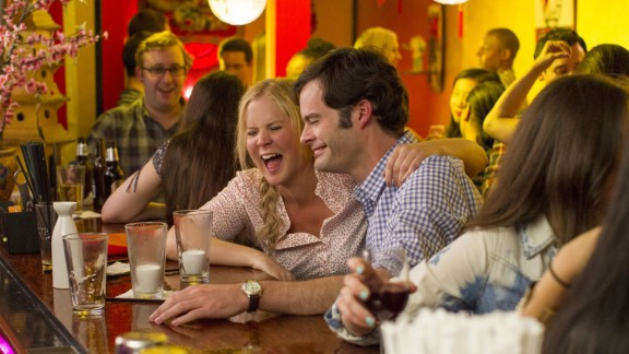"""In """"Trainwreck,"""" Amy Schumer plays a woman who steadfastly refuses to get herself involved in a relationship longer than a fling. Then she meets a sports doctor played by Bill Hader. If you"""