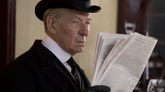 """Sherlock Holmes has been played, brilliantly, by such talents as Nicol Williamson, Jeremy Brett and Benedict, uh, Whatshisname. In """"Mr. Holmes,"""" he"""