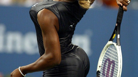 "Serena sported a catsuit when she played Corina Morariu during the 2002 U.S. Open. That title was the third leg of her first non-calendar ""Serena Slam,"" which she completed months later at the 2003 Australian Open."