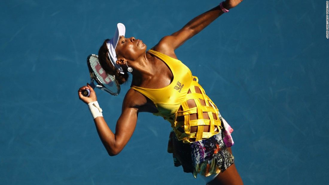 "When it comes to on-court fashion, there's just no beating the Williams sisters -- as exemplified by Venus' eye-popping lattice top at the Australian Open in 2011.<br />""I think Venus and Serena have both said: 'If you look good, you'll play good,'"" says Rothenberg.<br />""That said, if you're going to wear something bold, you want to have the talent to pull it off. Everything looks better when you're winning."""