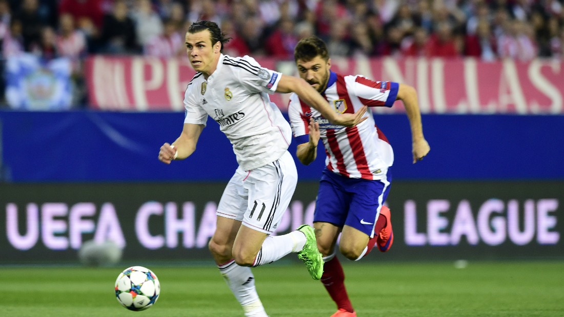 Real Madrid's Gareth Bale raced through the Atletico defense early on but his effort was saved by Jan Oblak.