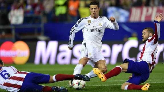 Cristiano Ronaldo could not add to his formidable goal tally in the first leg of the quarterfinal tie in the Vicente Calderon Tuesday.