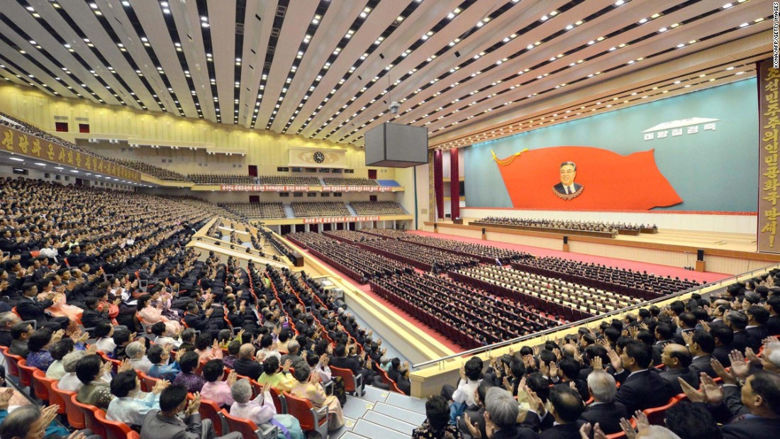 On April 14, thousands packed the Pyongyang Indoor Stadium to celebrate what would have been Kim's 103rd birthday.