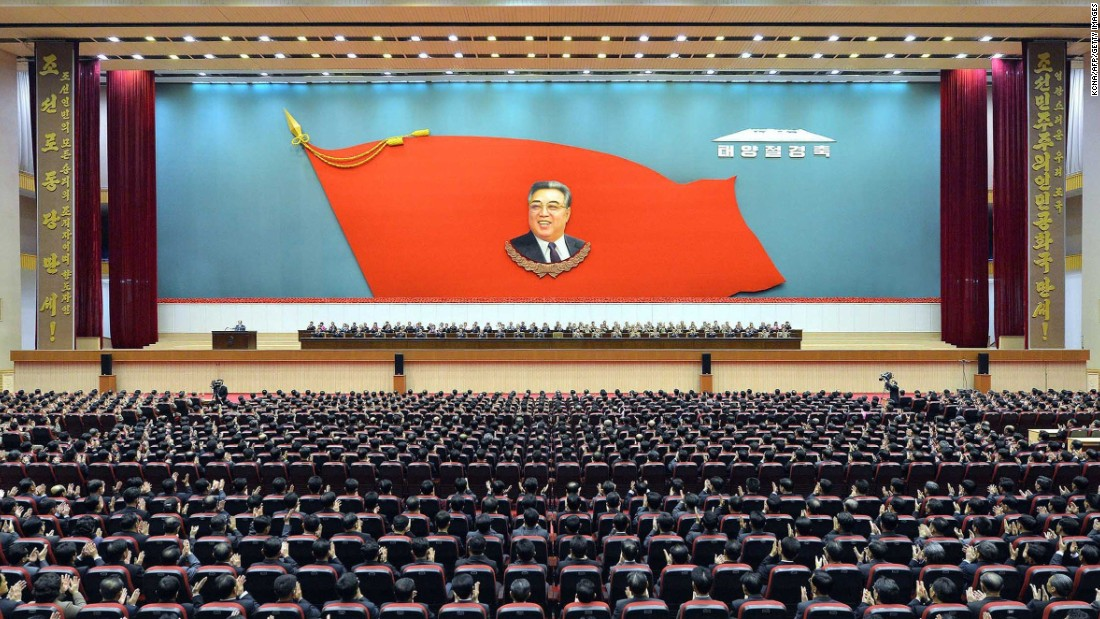 Kim Il Sung died in 1994 after leading the country 46 years.