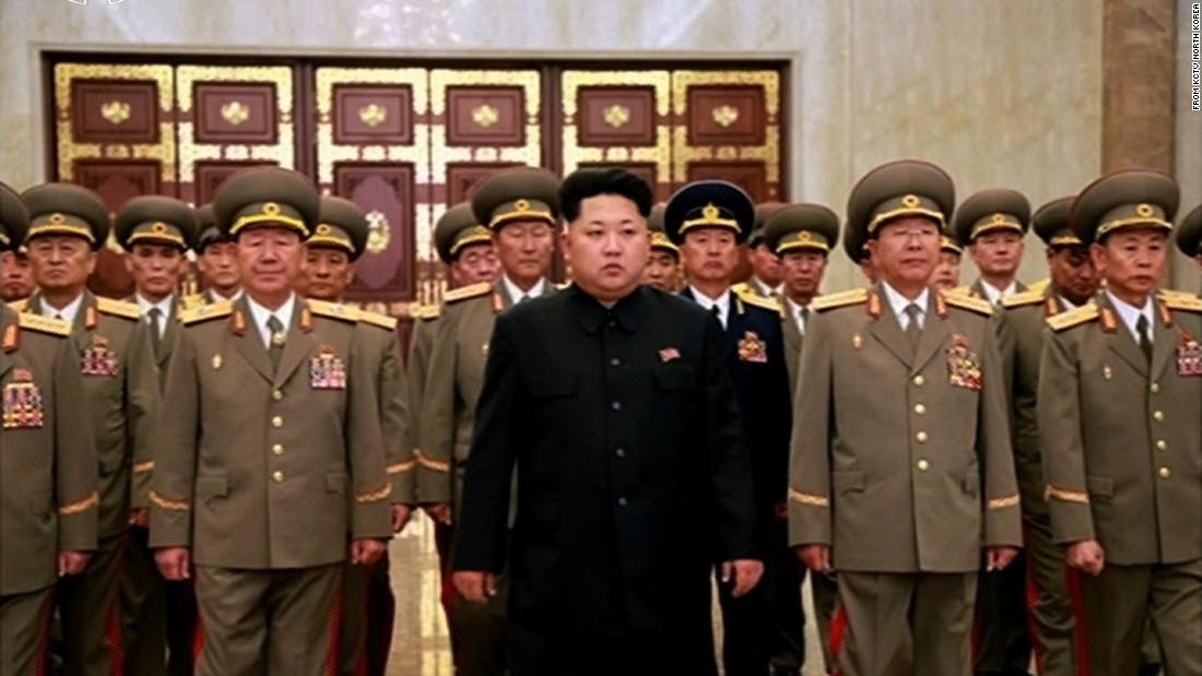According to North Korean state media, Kim was accompanied to the Palace by officials Hwang Pyong So, Ri Yong Gil, Kim Won Hong, Kim Chun Sam, Pak Yong Sik, Jo Kyong Chol and other commanding officers of the KPA.