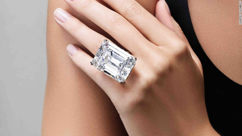 Sothebys perfect 100carat diamond sells for 22M CNN