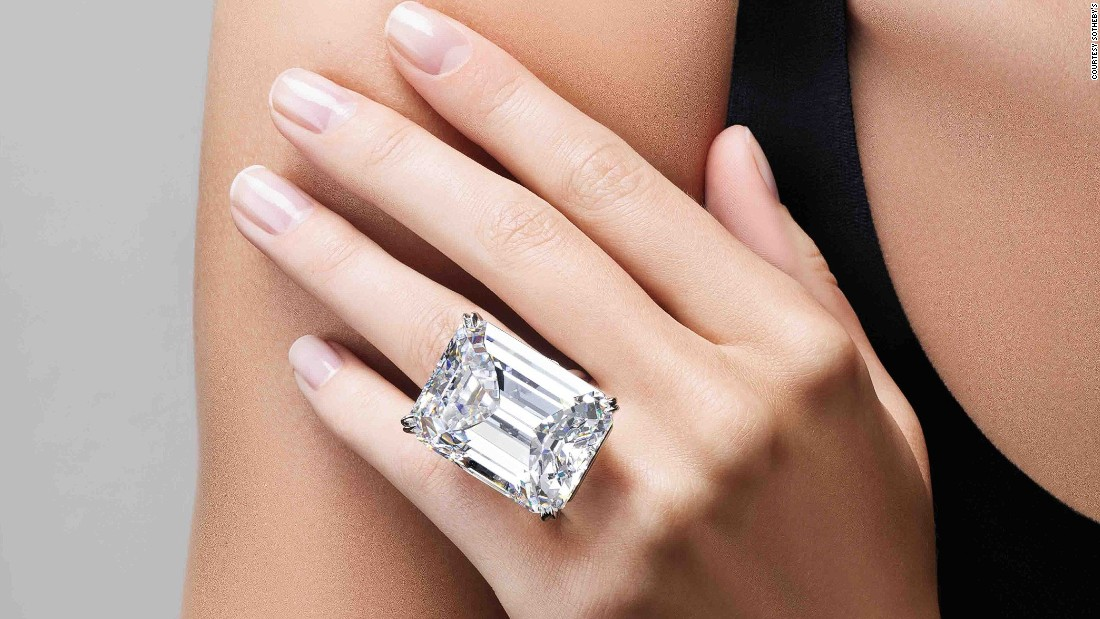 This flawless, 100-carat diamond sold for $22 million, including buyer's premium,  at Sotheby's New York's Magnificent Jewels sale on April 21. It's one of only six diamonds  over 100 carats to ever be sold at auction.