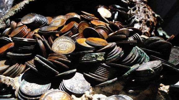 In November 1942, the SS City of Cairo was sunk by a German U-boat while carrying 100 tons of silver.