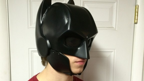 Various matte lacquers were added and a custom designed mesh was placed over the eye sockets to provide protection.