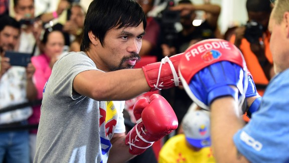 "The congressman and eight-division world champion said he had a message for Mayweather: ""After the fight, if I could talk to him, I want to share the gospel of God. I want to share to him about God, why we need God."" Pacquiao is a passionate Christian. He uses social media to thank God and share his musical compositions, while Mayweather's Instagram feed highlights his glamorous lifestyle."