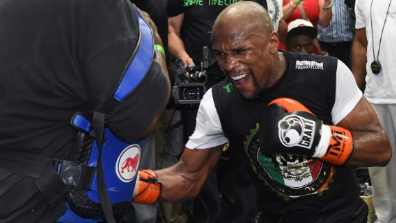 """This fight is one of the biggest ever in boxing. This is two future hall-of-famers in a megafight. I've done record breaking numbers before, and it looks like we're going to do it again,"" proclaimed ""Money"" Mayweather, oozing confidence with a 47-0 professional fight record."