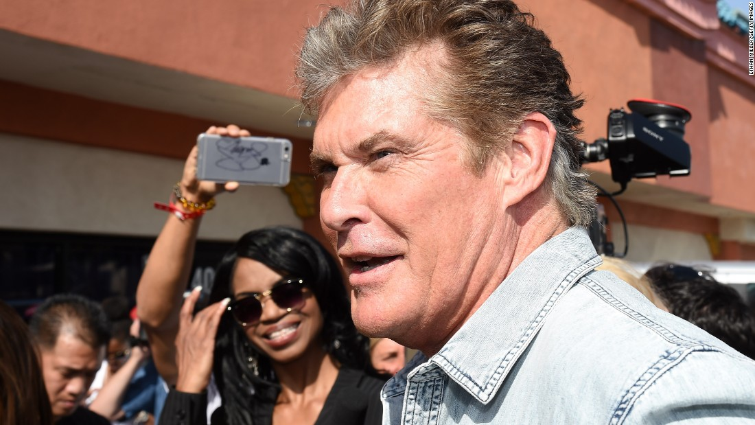 Former Baywatch actor David Hasselhoff also came to check out Mayweather's moves as he prepared for what may be the richest fight in boxing history.
