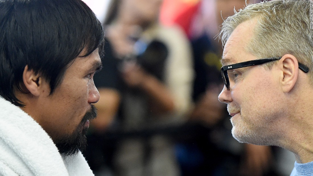 """I've never seen Manny at this level,"" said trainer Freddie Roach, right. ""He's really motivated for this fight. It has really escalated his performance. I think he's faster than ever and he's definitely hitting harder than ever."""